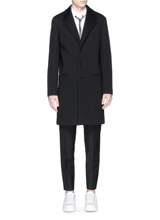 Bonded jersey coat