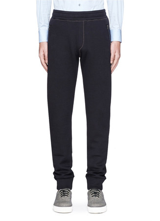 Bonded jersey jogging pants