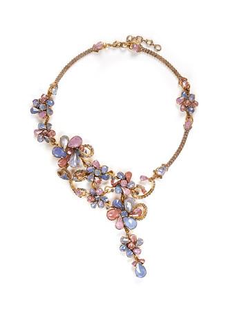 'Botanical Garden' Swarovski crystal floral necklace