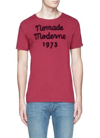 Bouclé appliqué cotton T-shirt