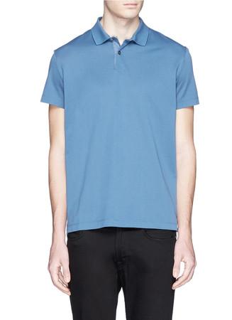 'Boyd' cotton neo piqué polo shirt