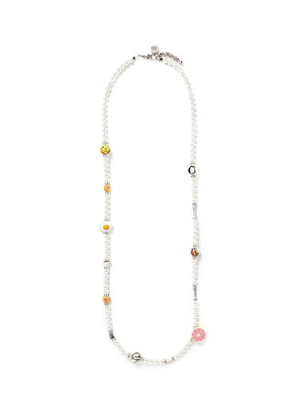 'Breakfast in Bed' glass pearl necklace