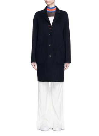 'Bree' reversible check plaid flannel coat