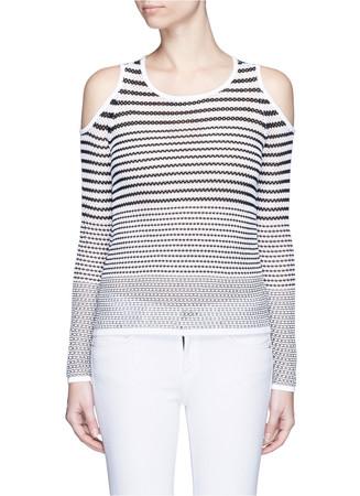 'Brenna' gradient stripe cutout shoulder sweater