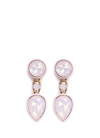 Brûlée crystal earrings