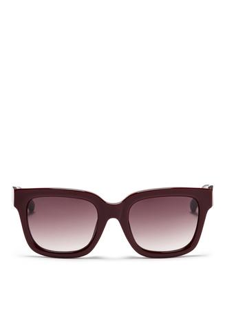 Brushed hardware acetate D-frame sunglasses