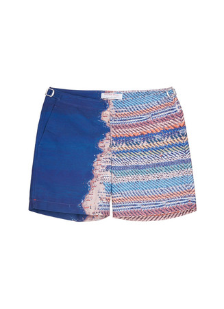 'Bulldog Alex Maclean' photo print swim shorts