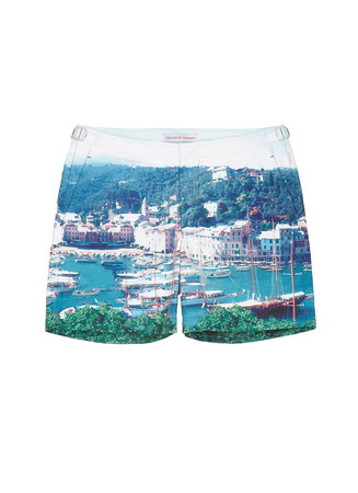 'Bulldog Hulton Getty' yacht photo print swim shorts
