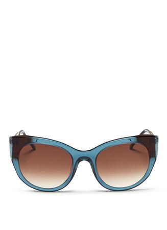 'Bunny' matte temple acetate cat eye sunglasses