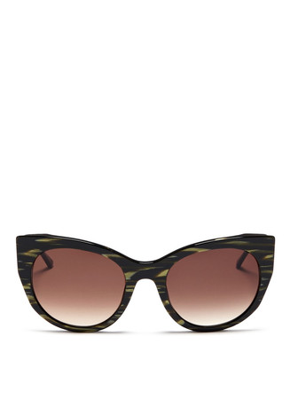 'Bunny' pearlescent acetate cat eye sunglasses