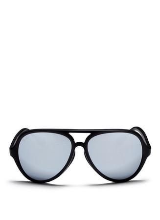 'CATS 5000' matte acetate aviator sunglasses