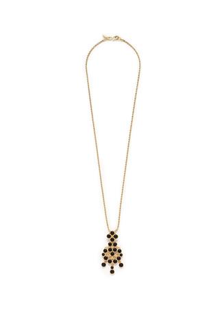 Cabochon swing pendant necklace