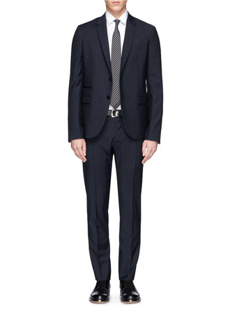 Camouflage lining wool-mohair suit