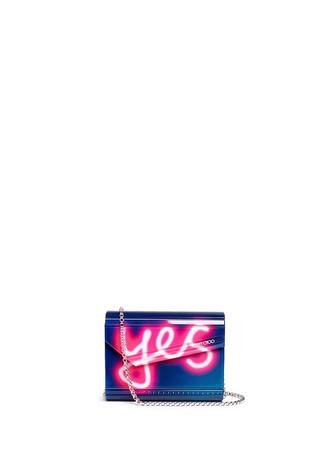 'Candy' neon light acrylic clutch bag