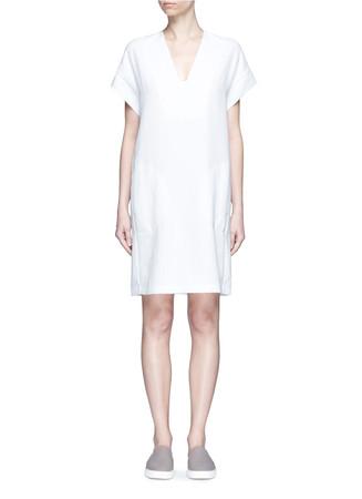Cap sleeve popover dress