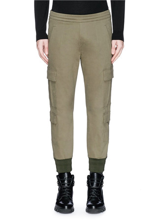 Cargo pocket cotton pants