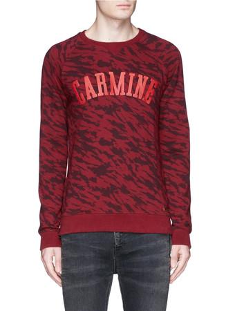'Carmine' appliqué camouflage print sweatshirt