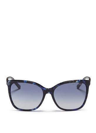 Chain link tortoiseshell acetate sunglasses
