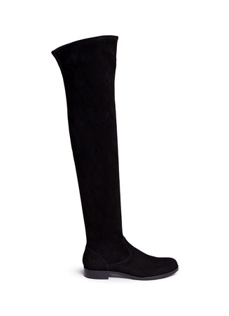 Chamois suede thigh high boots