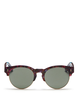 'Charlie Rae' marbled acetate browline sunglasses