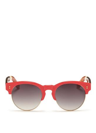 'Charlie Rae' tortoiseshell temple acetate browline sunglasses