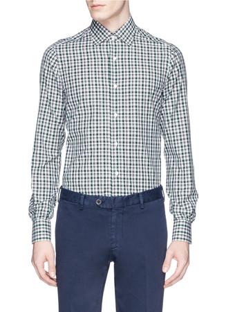 Check cotton broadcloth shirt