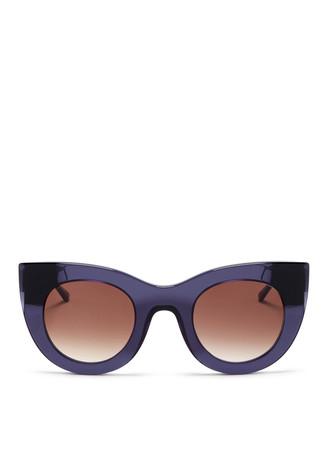 'Cheeky' matte temple acetate cat eye sunglasses