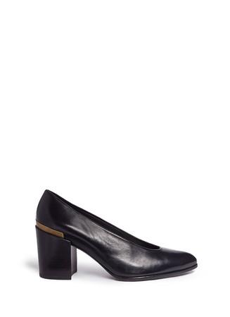 'Choke Up' chunky heel leather pumps