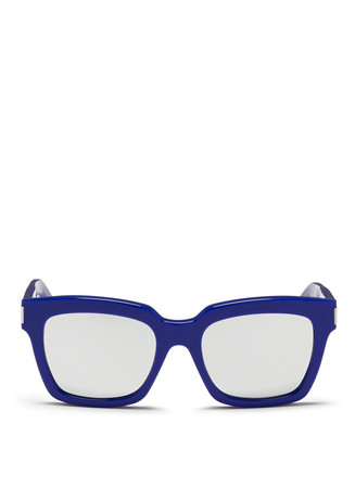 Chunky acetate mirror sunglasses