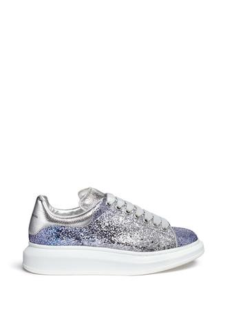Chunky outsole glitter dégradé sneakers