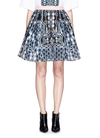 'Circle' pinball print crinkle twill skirt