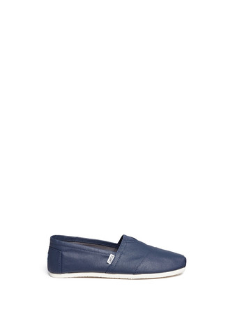Classic coated canvas slip-ons