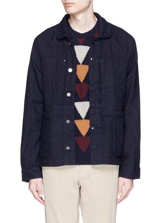 Club collar workwear jacket