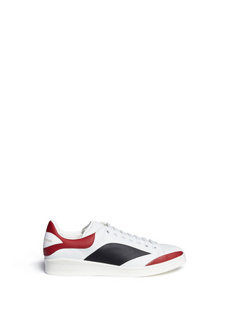 Colourblock leather sneakers