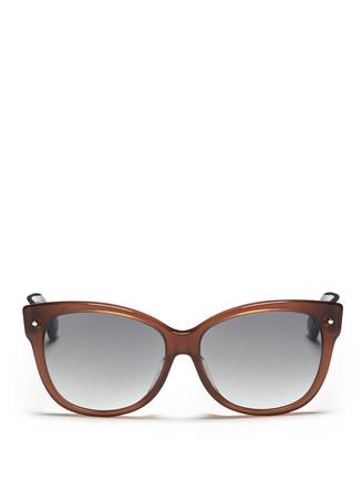 Colourblock oversized cat eye sunglasses