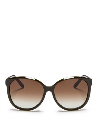 Colourblock temple tip acetate sunglasses