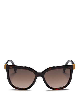 Colourblock temple tortoiseshell acetate sunglasses