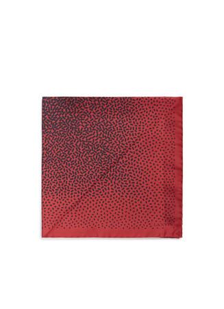 Confetti print silk pocket square
