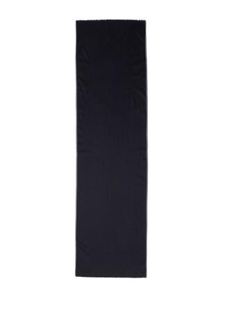 Contrast border wool-silk scarf