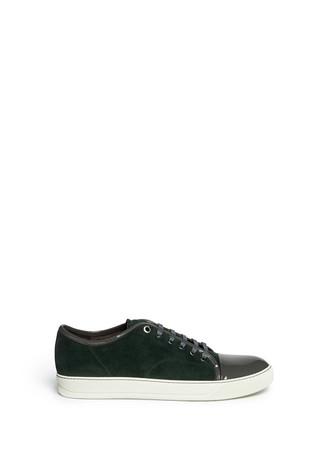 Contrast toe-cap suede sneakers