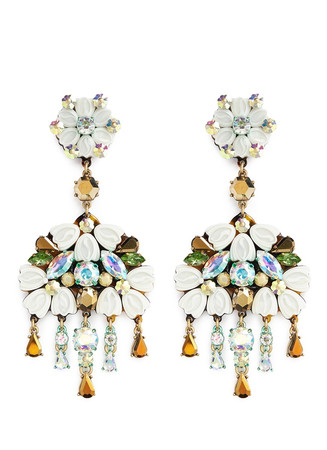 Cosmos cluster chandelier earrings