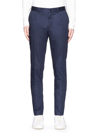 Cotton gabardine chinos