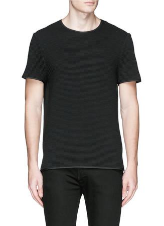 Crew neck ottoman jersey T-shirt