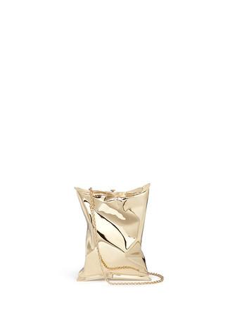 'Crisp Packet II' brass chain clutch