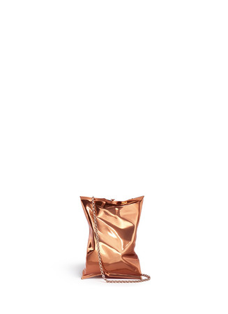 'Crisp Packet' brass clutch