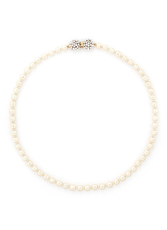 Crystal cluster baroque glass pearl necklace