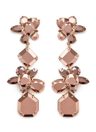 Crystal cluster earrings