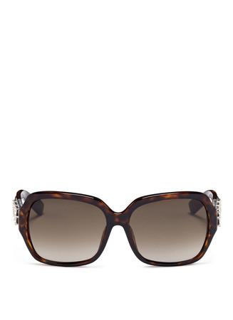 Crystal embellished tortoiseshell sunglasses
