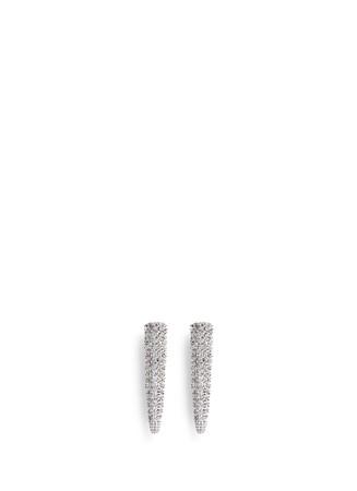 Crystal pavé spike earrings