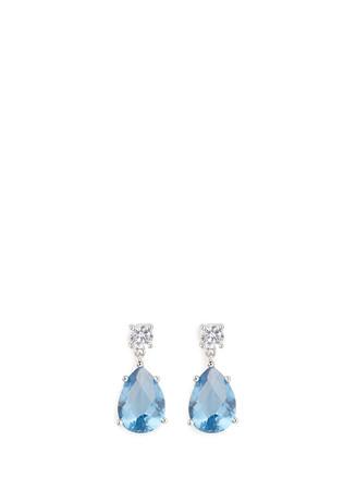 Cubic zirconia dangle stud earrings